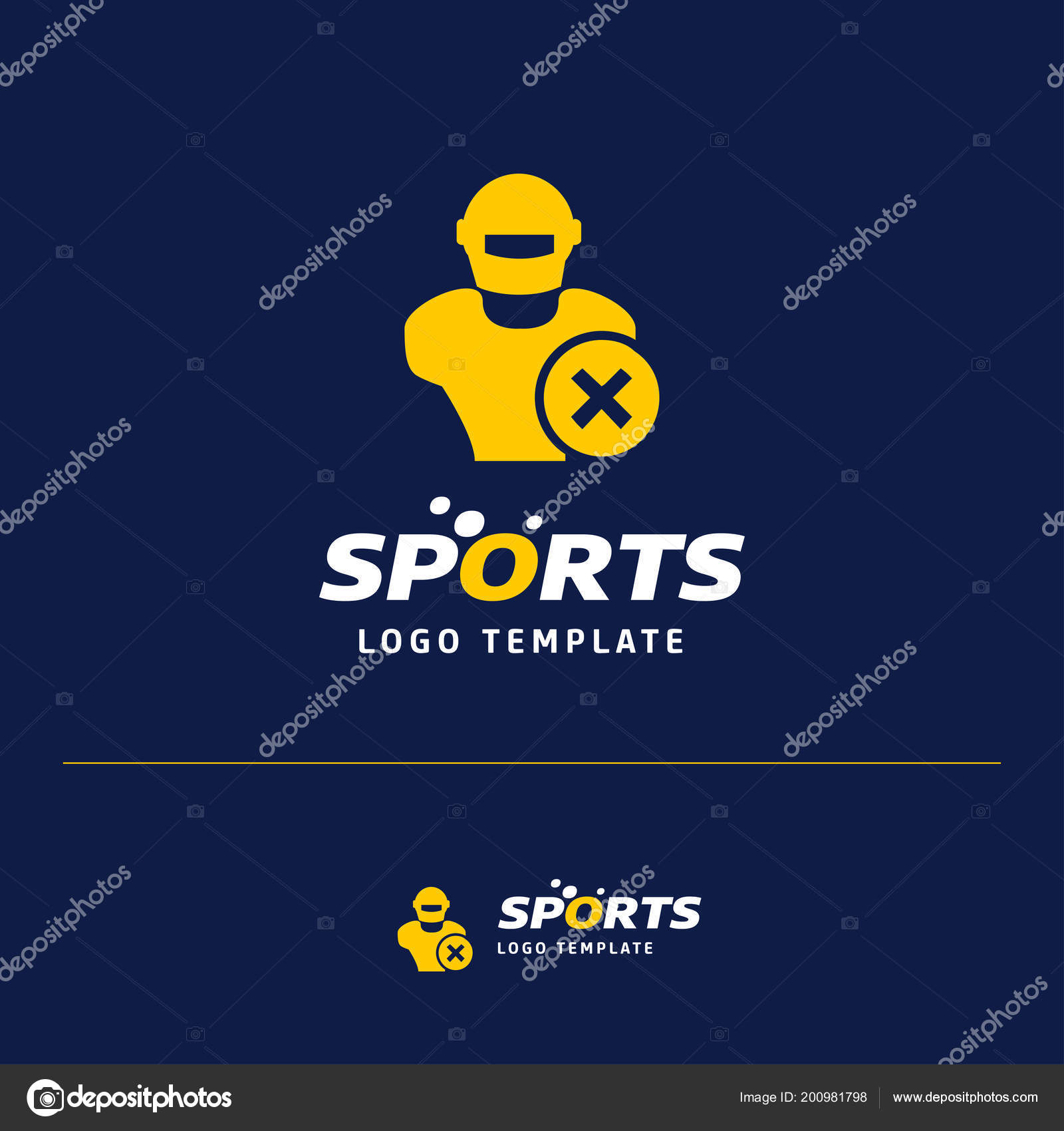 Vector illustration business card design sports logo theme vetores vector illustration business card design sports logo theme vetores de stock reheart Gallery