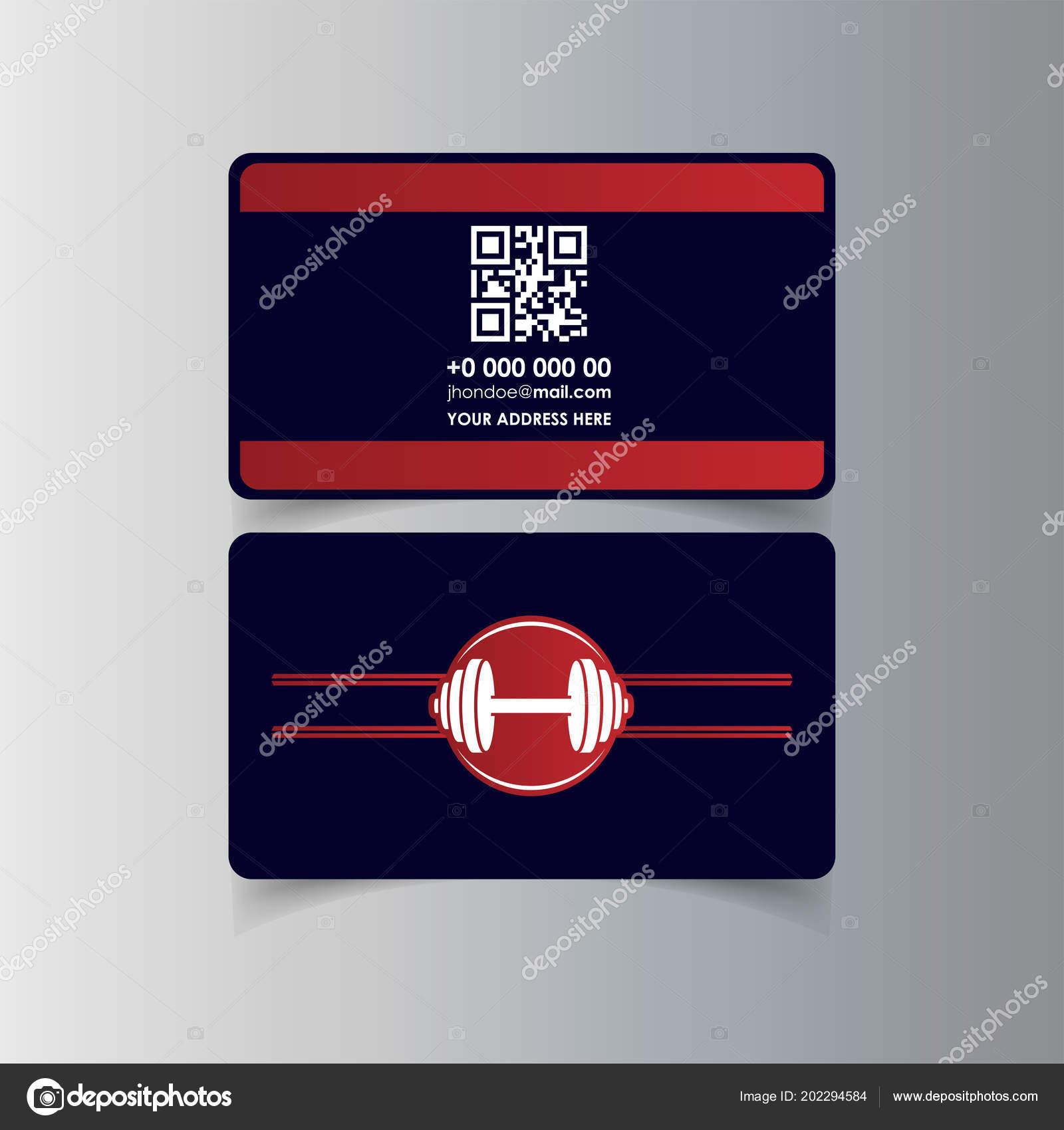 Business cards design gym logo vector illustration stock vector business cards design gym logo vector illustration stock vector colourmoves