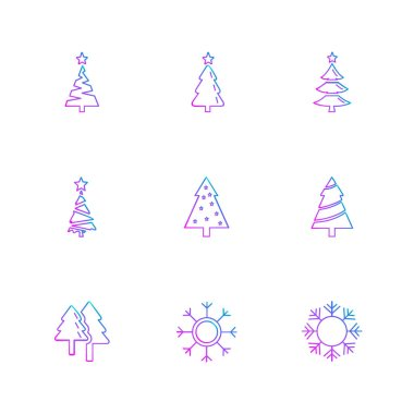 colored minimalistic flat vector app icons on white background