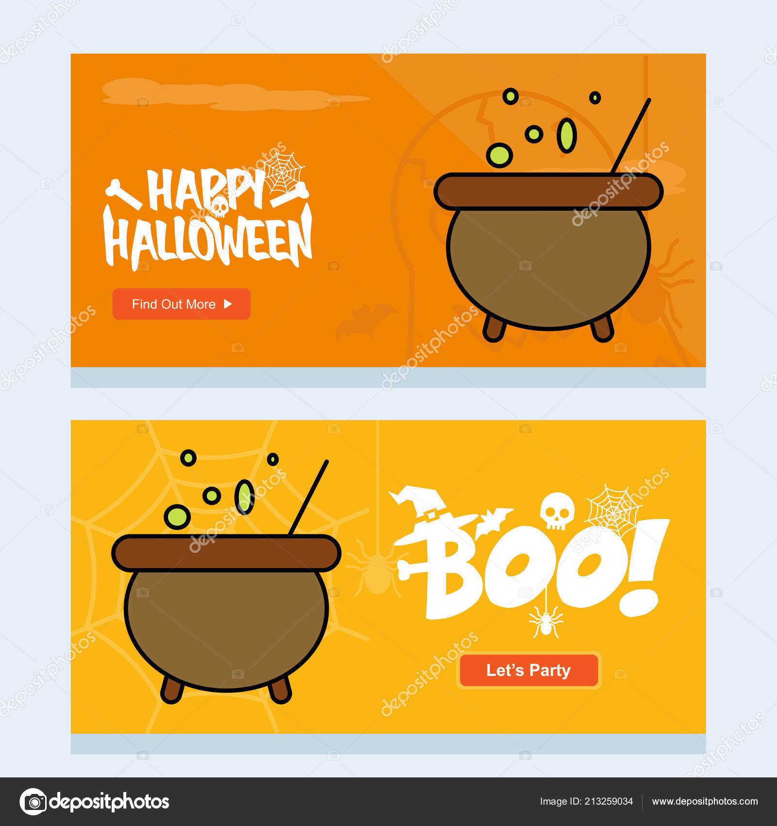 Happy halloween invitation design with pot vector vetor de stock happy halloween invitation design with pot vector vetor de stock stopboris Gallery