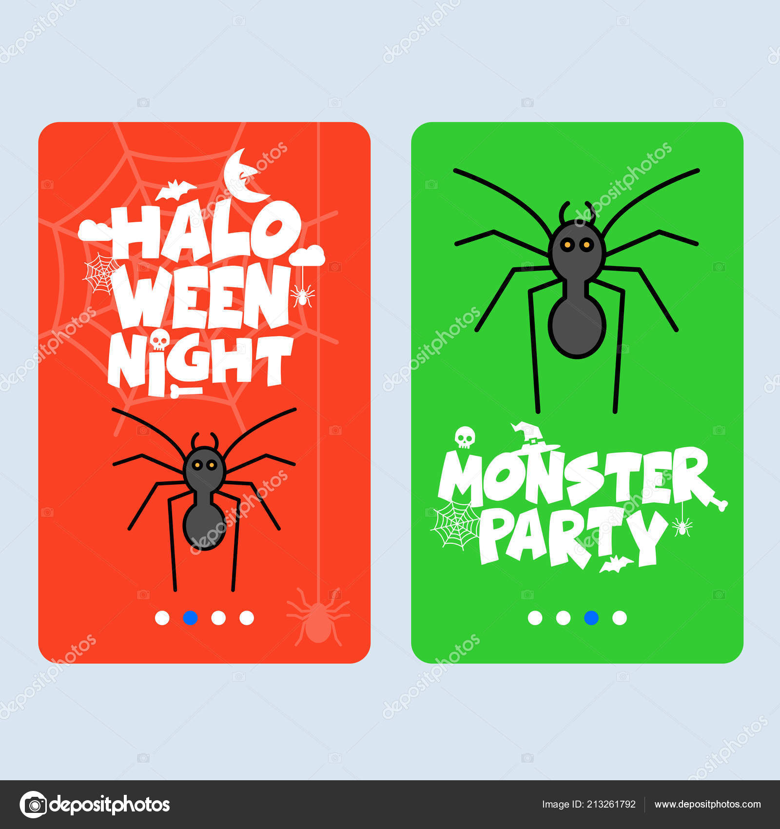 Happy halloween invitation design with spider vector vetores de happy halloween invitation design with spider vector vetores de stock stopboris Gallery