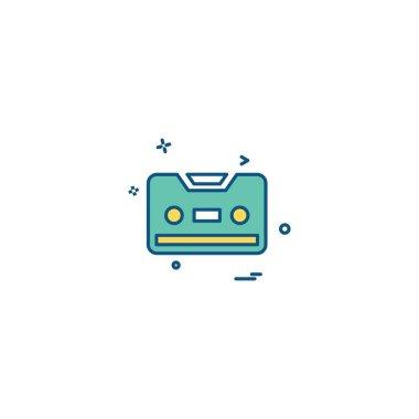 Cassette icon design vector illustration