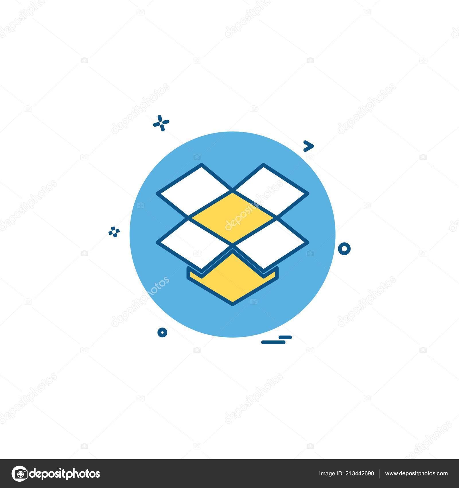 Media Network Social Dropbox Icon Vector Design