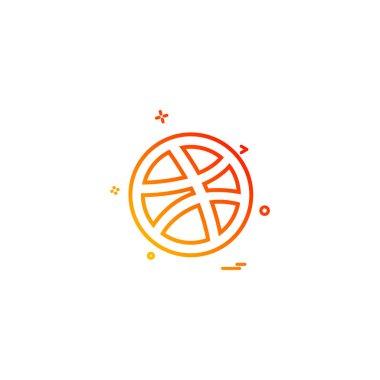 media network social dribbble icon vector design
