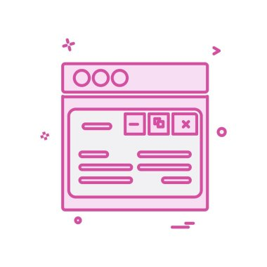 Web layout icon design vector illustration