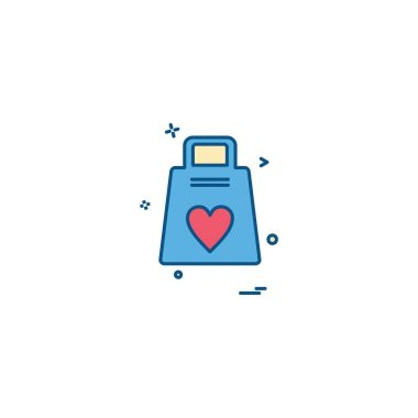 Heart icon design, vector illustration for Valentine day