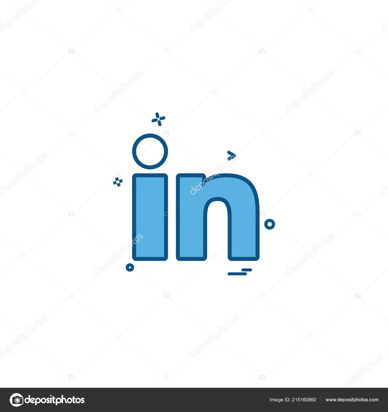 Linkedin Icon Design Vector Stock Vector C Ibrandify