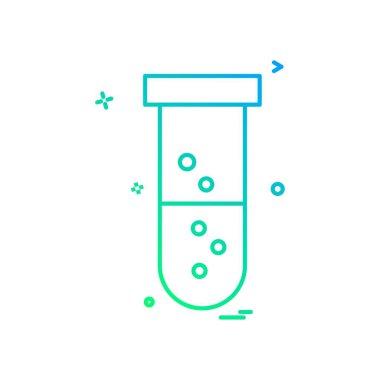 Tube icon design, colorful vector illustration