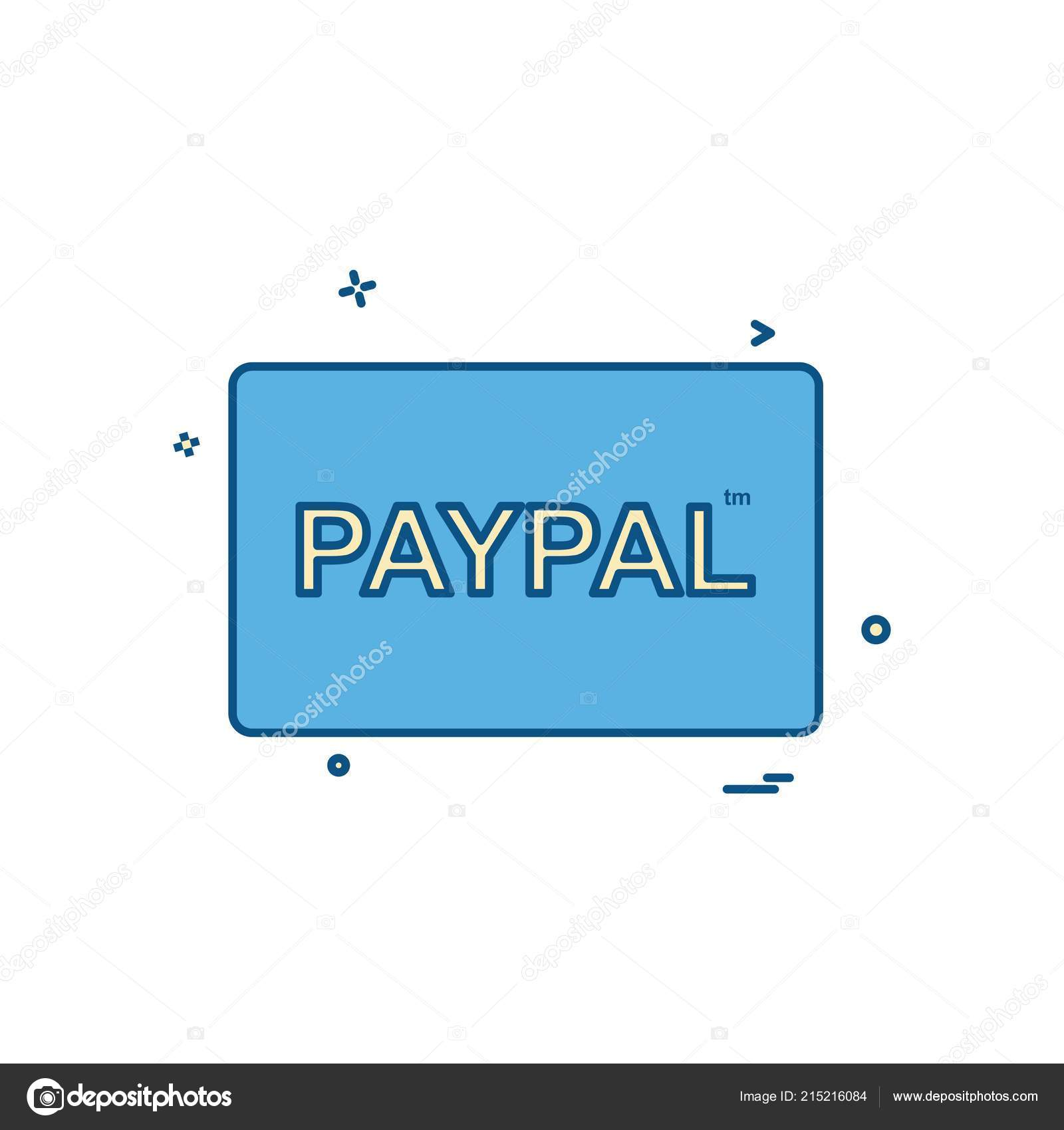 Paypal Karte.Paypal Karte Icon Design Stockvektor C Ibrandify 215216084