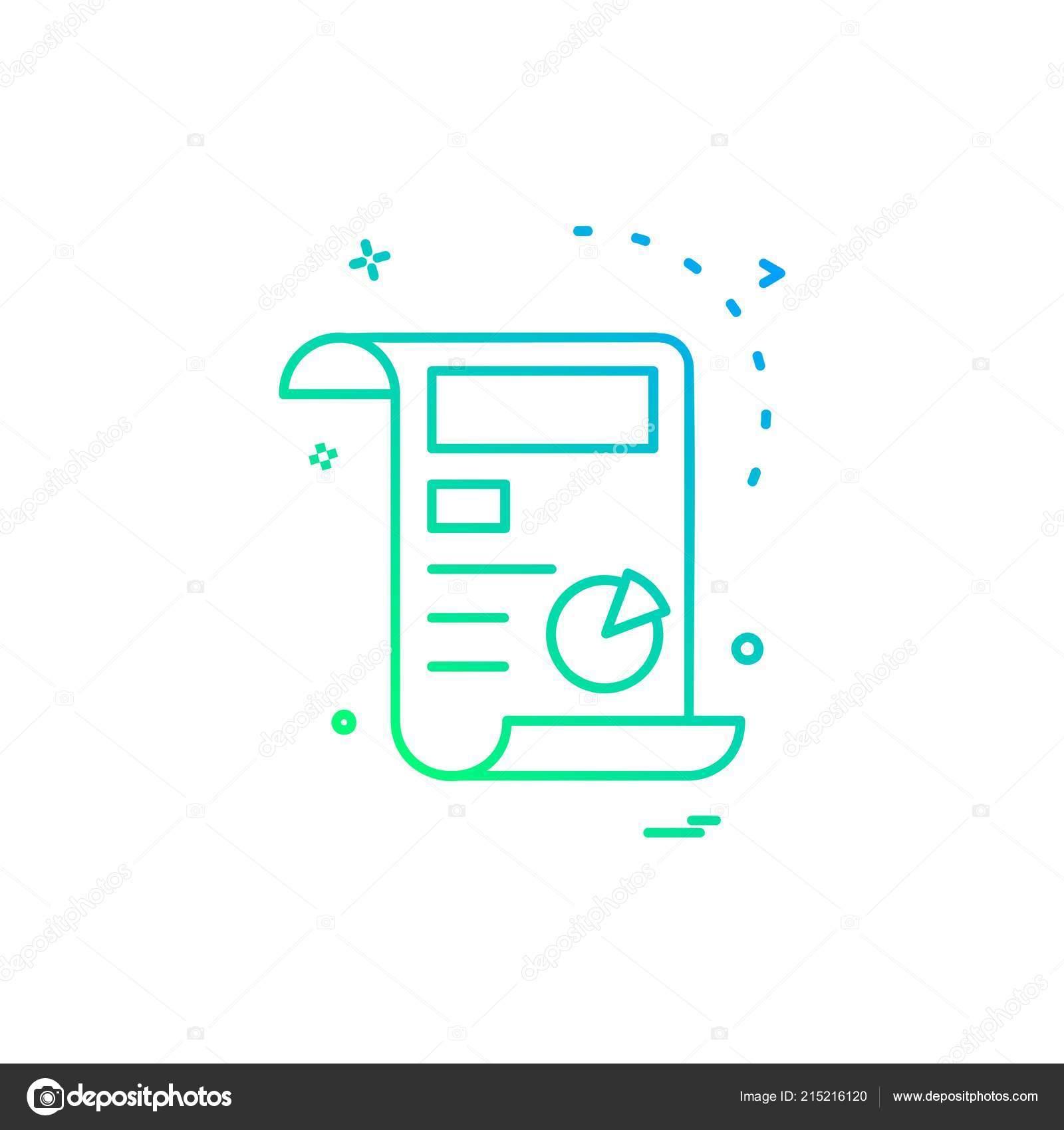 Invoice Icon Design Vector Illustration Stock Vector C Ibrandify