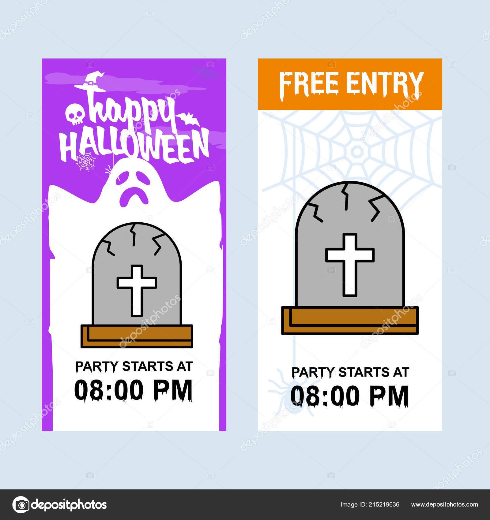 happy halloween invitation design grave vector ストックベクター