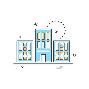 Real Estate icon design vector illustration