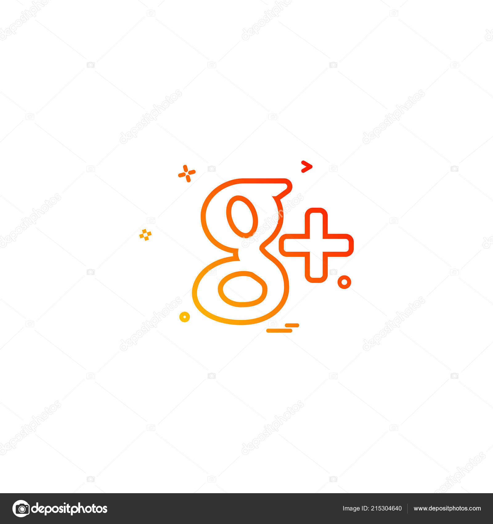 Google Icon Design Vector — Stock Vector © ibrandify #215304640