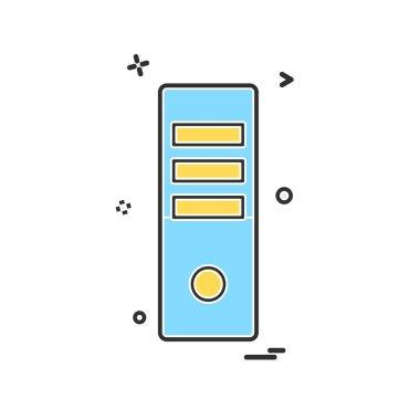 CPU icon design vector