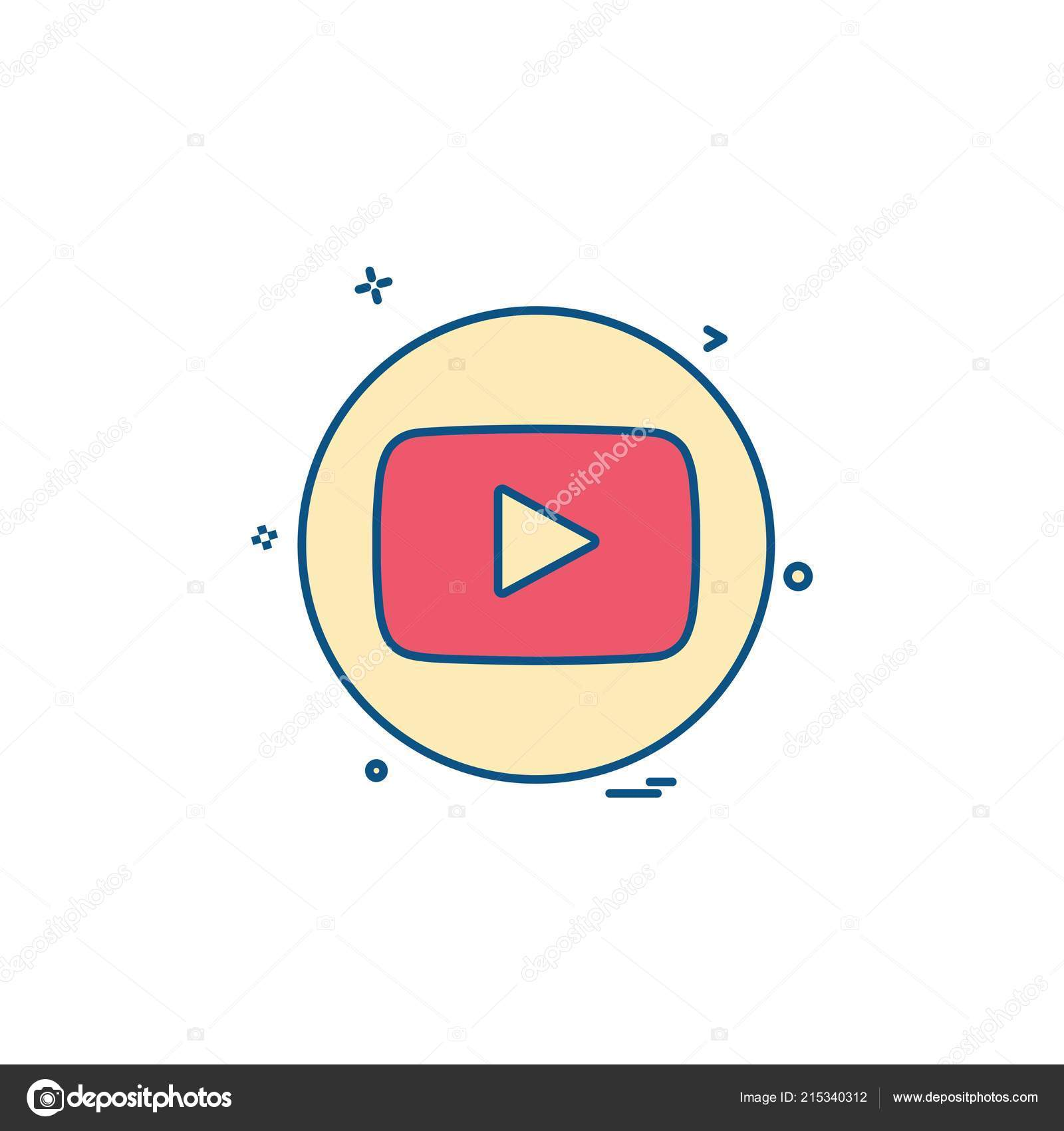 Media Network Social Youtube Stock Vector Ibrandify 215340312