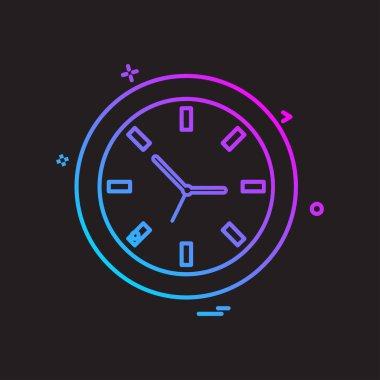 Clock flat icon vector illustration