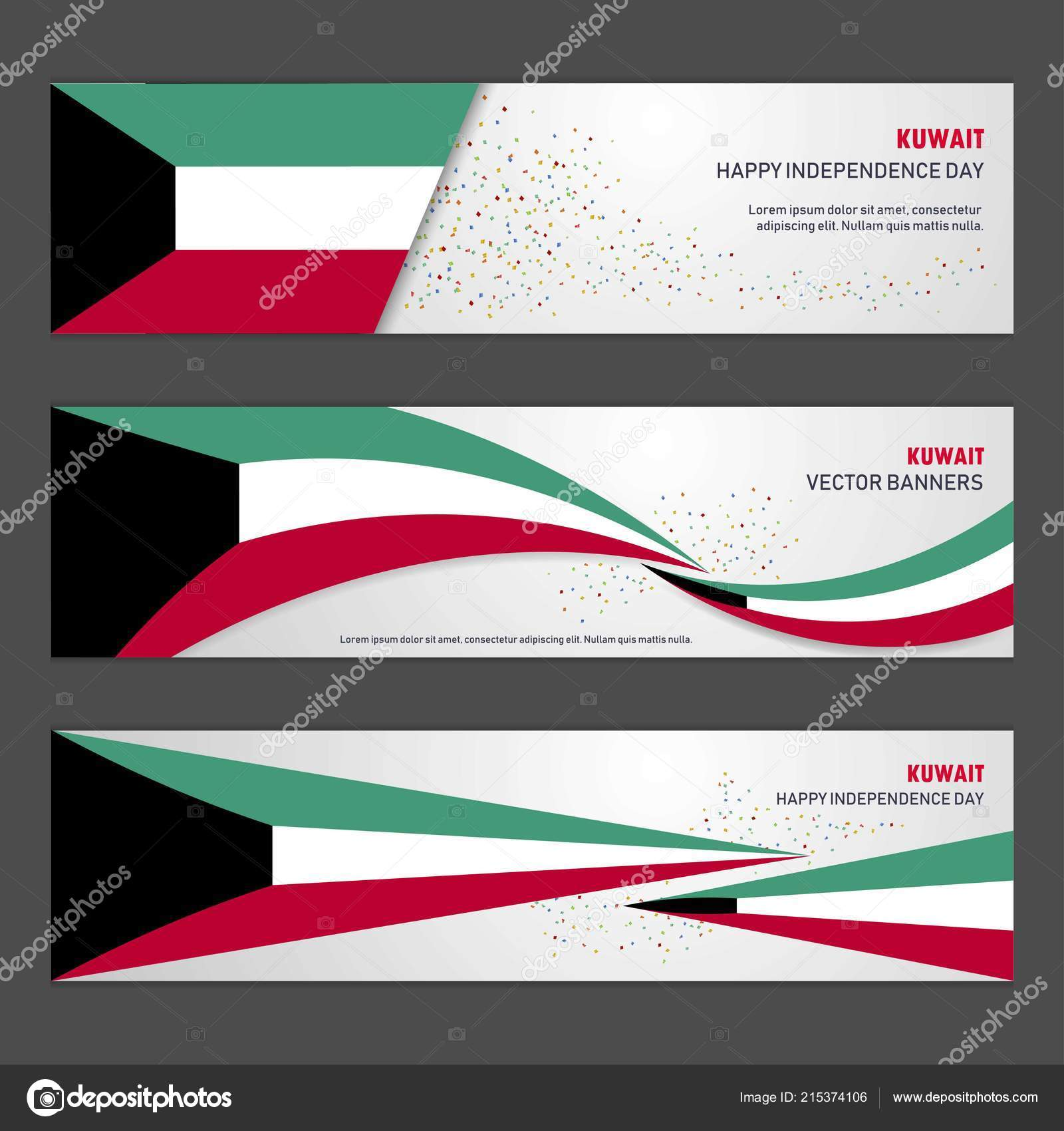 Kuwait Independence Day Abstract Background Design Banner Flyer