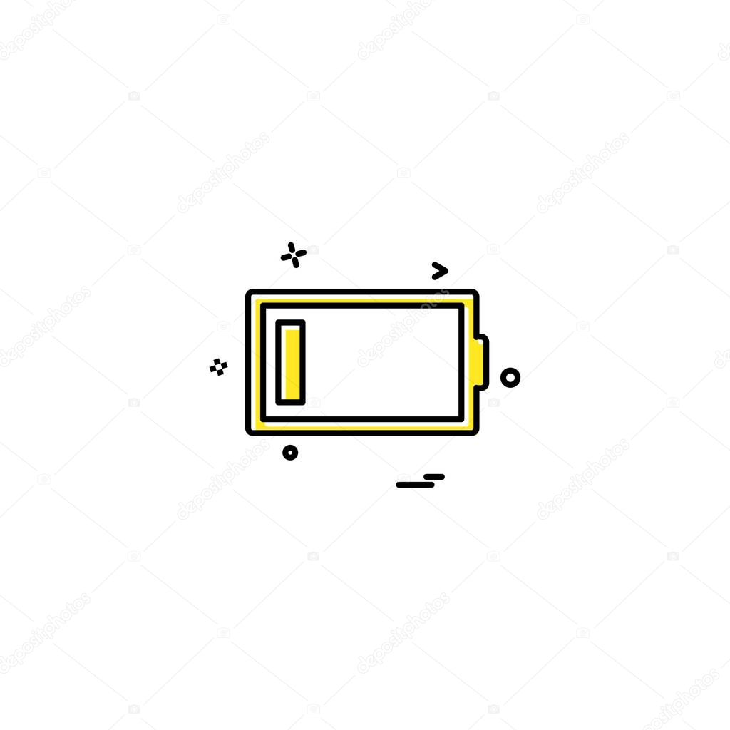 low battery icon design vector premium vector in adobe illustrator ai ai format encapsulated postscript eps eps format wdrfree