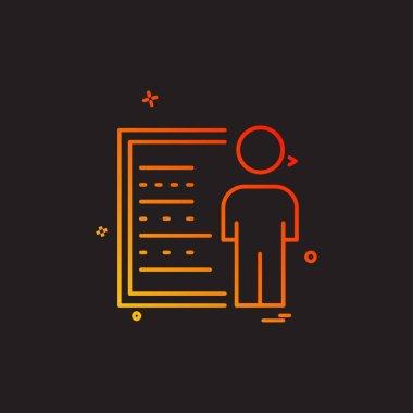 Presentation icon design, colorful vector illustration