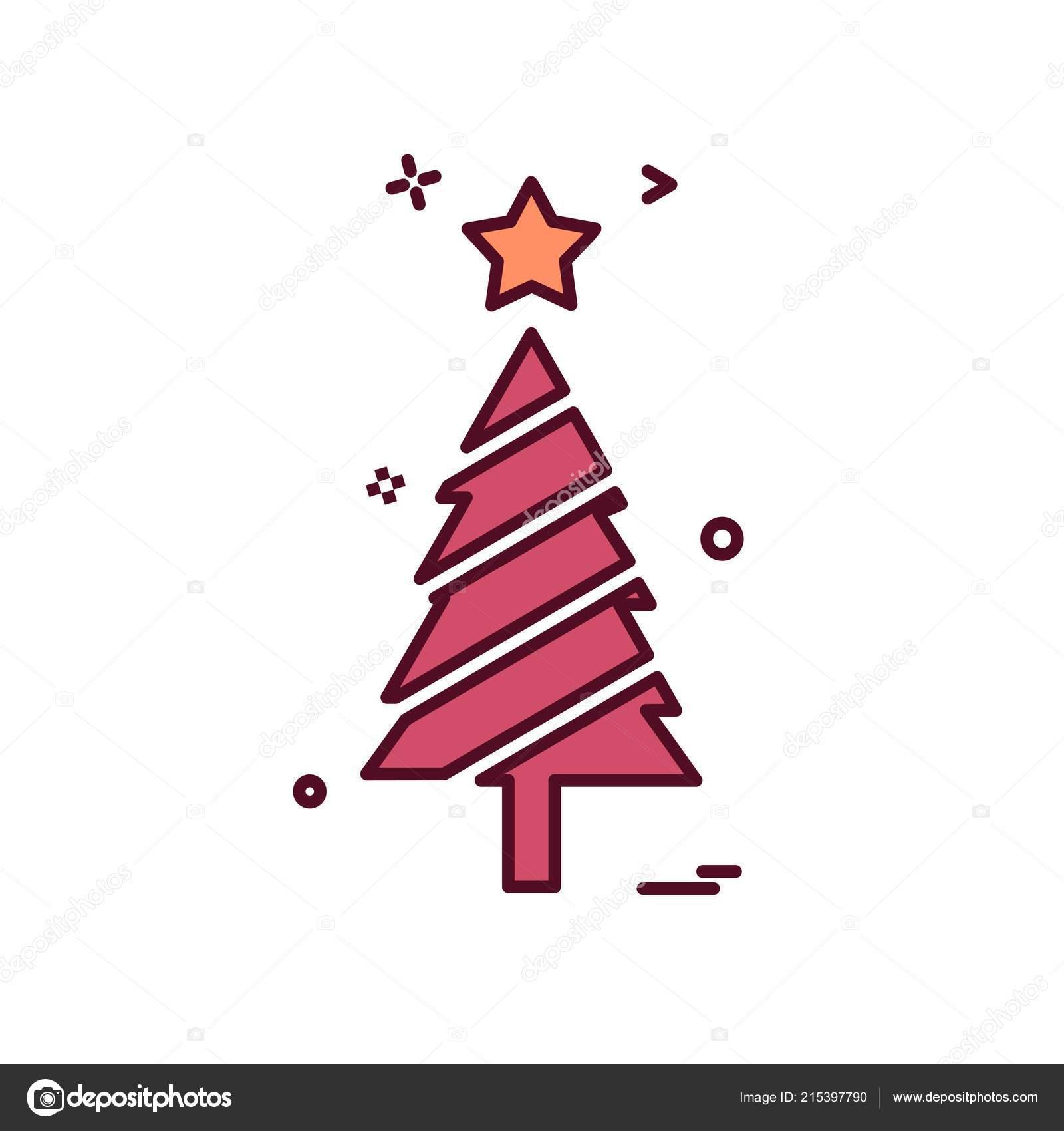 Vector Diseno Icono Arbol Navidad Vector De Stock C Ibrandify - Arbol-navidad-diseo