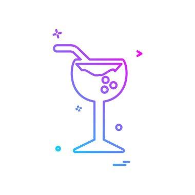 Drink icon design, colorful vector illustration