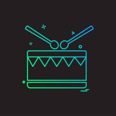 Drum icon design vector illustration