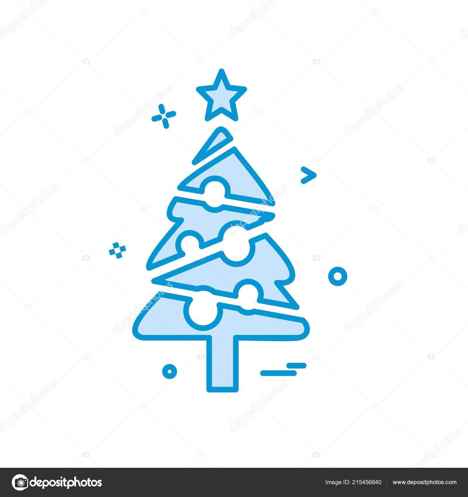 Vector Diseno Icono Arbol Navidad Archivo Imagenes Vectoriales - Arbol-navidad-diseo