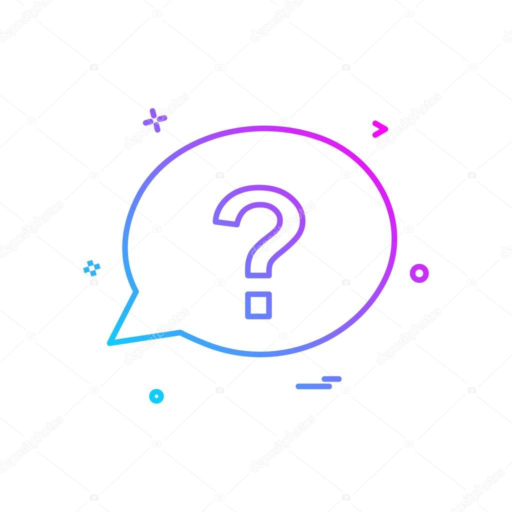 chat question sms icon vector design