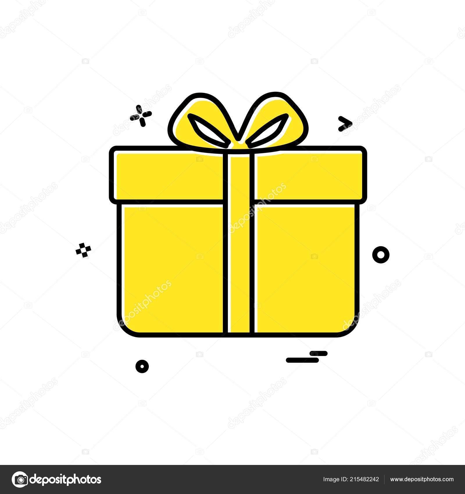 Gift Box Birthday Surprise Icon Vector Design Stock Vector