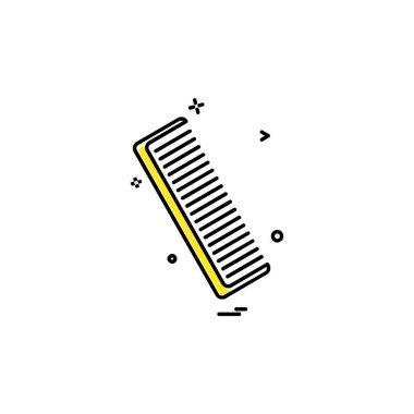 Comb icon design vector