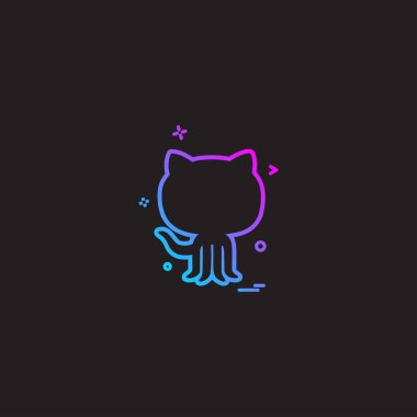 Github icon design vector illustration