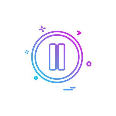 Pause button icon design vector