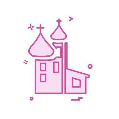Church icon design vector