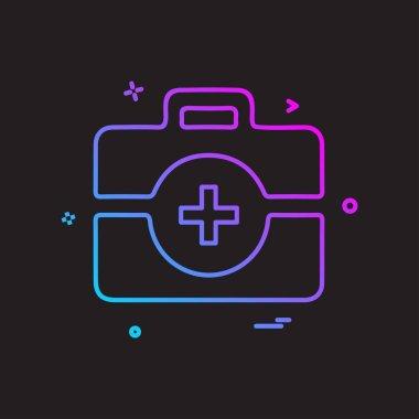 Medical icon design, colorful vector illustration