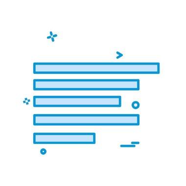 Text alignment icon design vector