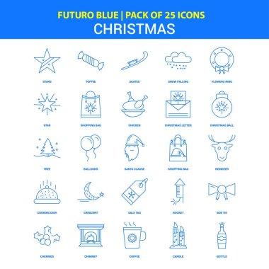 Christmas Icons - Futuro Blue 25 Icon pack icon