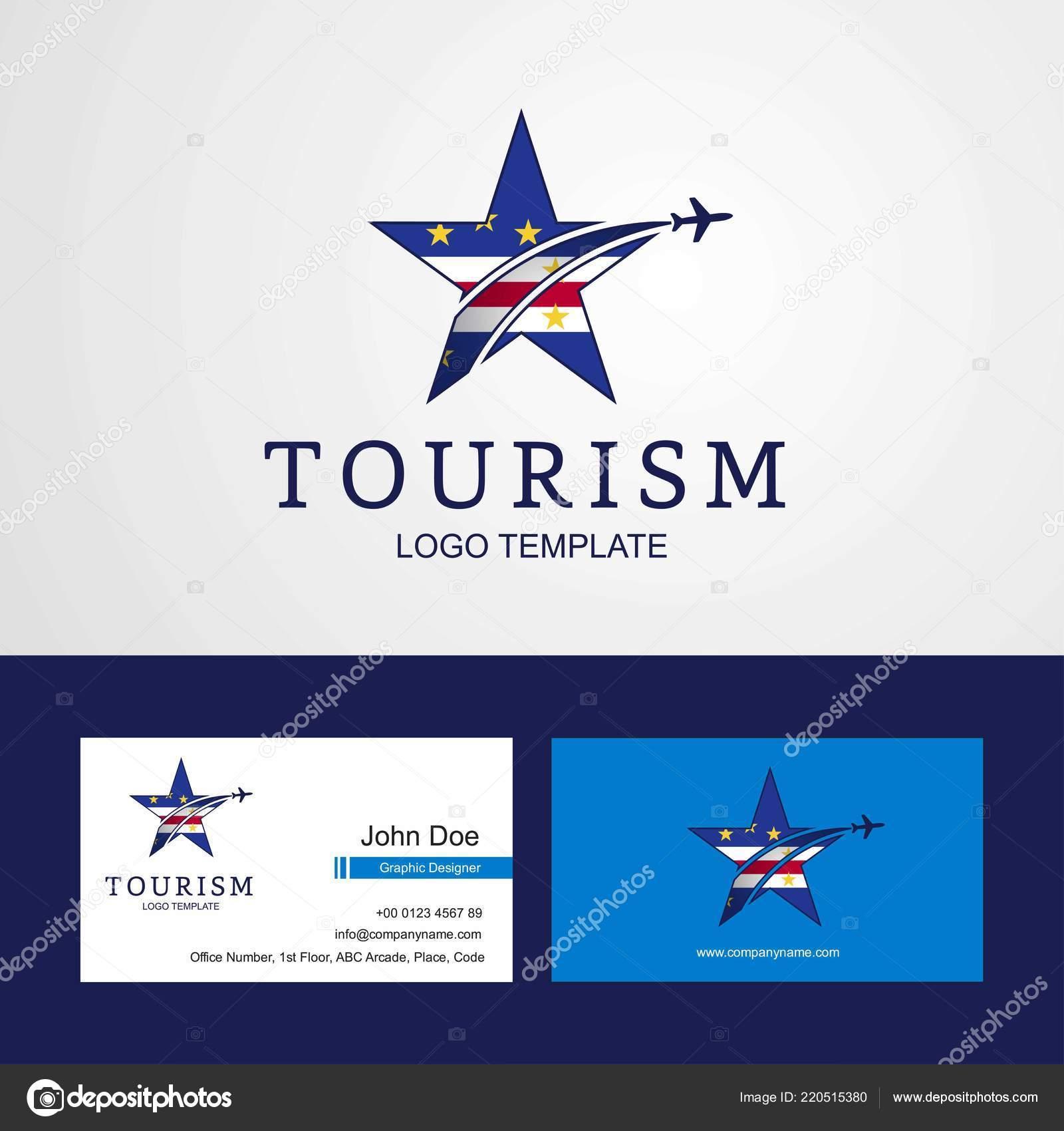Voyage Cap Vert Drapeau Design Creatif Star Logo Et Carte De Visite Vecteur Par Ibrandify