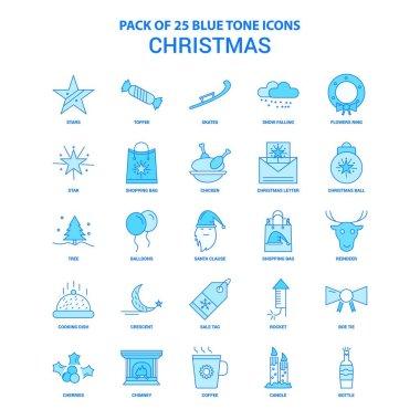 Christmas Blue Tone Icon Pack - 25 Icon Sets icon