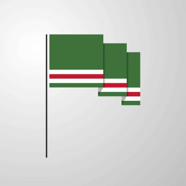 Chechen Republic of Lchkeria waving Flag creative background