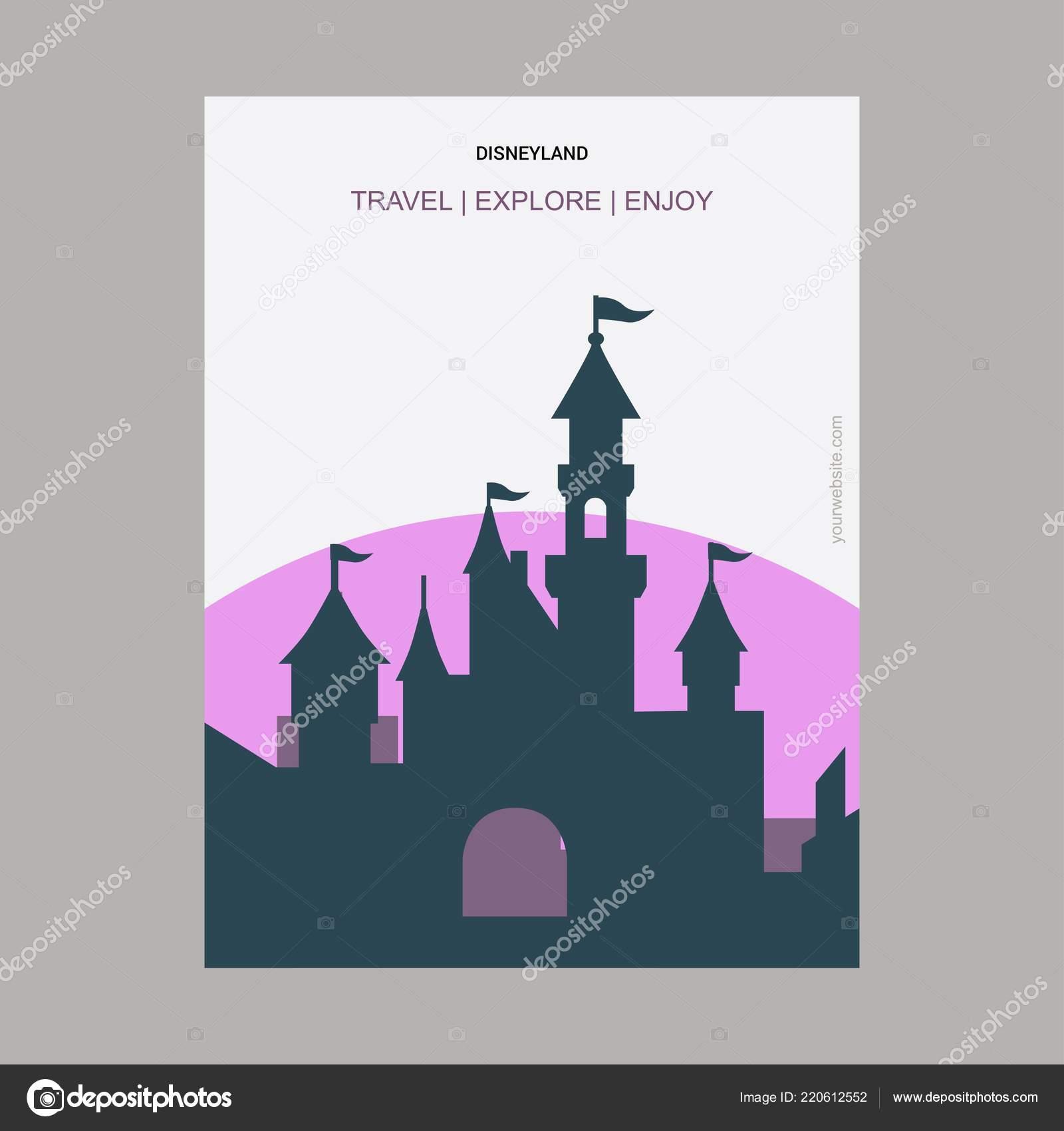 Disneyland California United States Vintage Style Landmark Poster