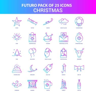 25 Blue and Pink Futuro Christmas Icon Pack icon