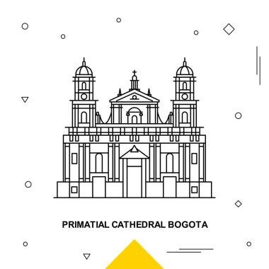 PRIMATIAL CATHEDRAL BOGOTA. Vector illustration