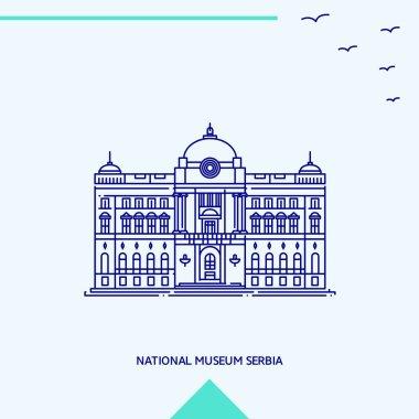 NATIONAL MUSEUM SERBIA skyline vector illustration