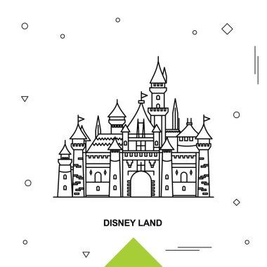 DISNEY LAND. Vector illustration