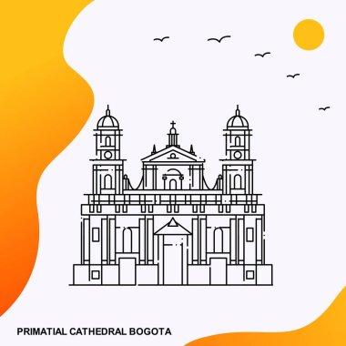 Travel PRIMATIAL CATHEDRAL BOGOTA Poster Template