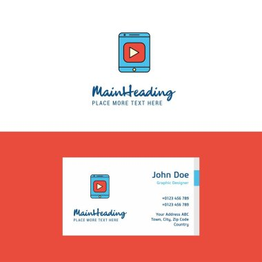 Flat Video Logo and Visiting Card Template. Busienss Concept Logo Design
