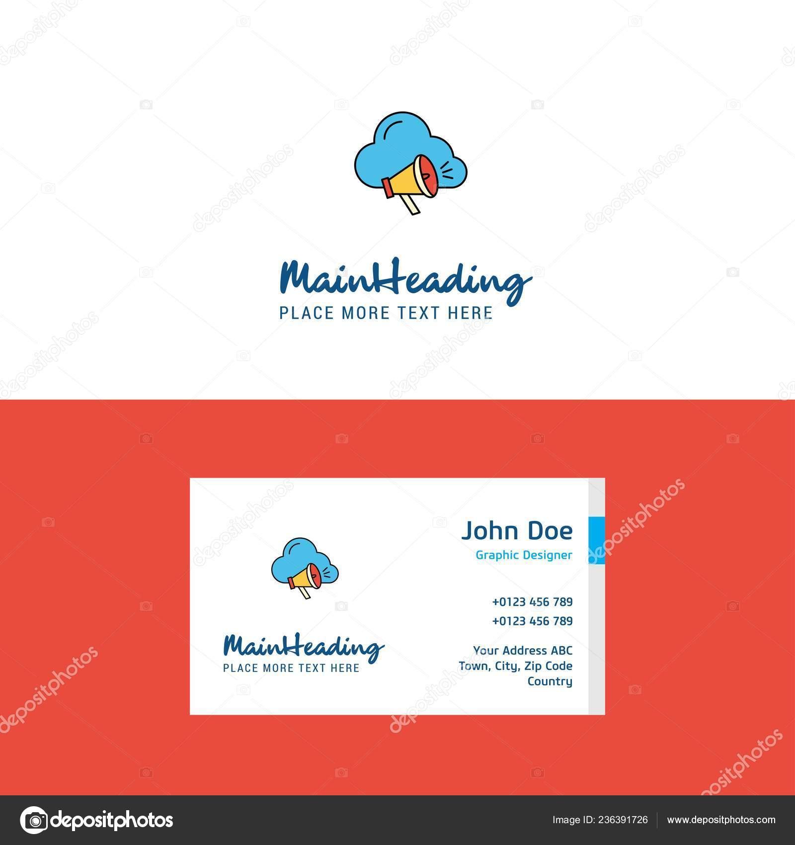 Flache Cloud Musik Logo Und Visitenkarte Vorlage Busienss