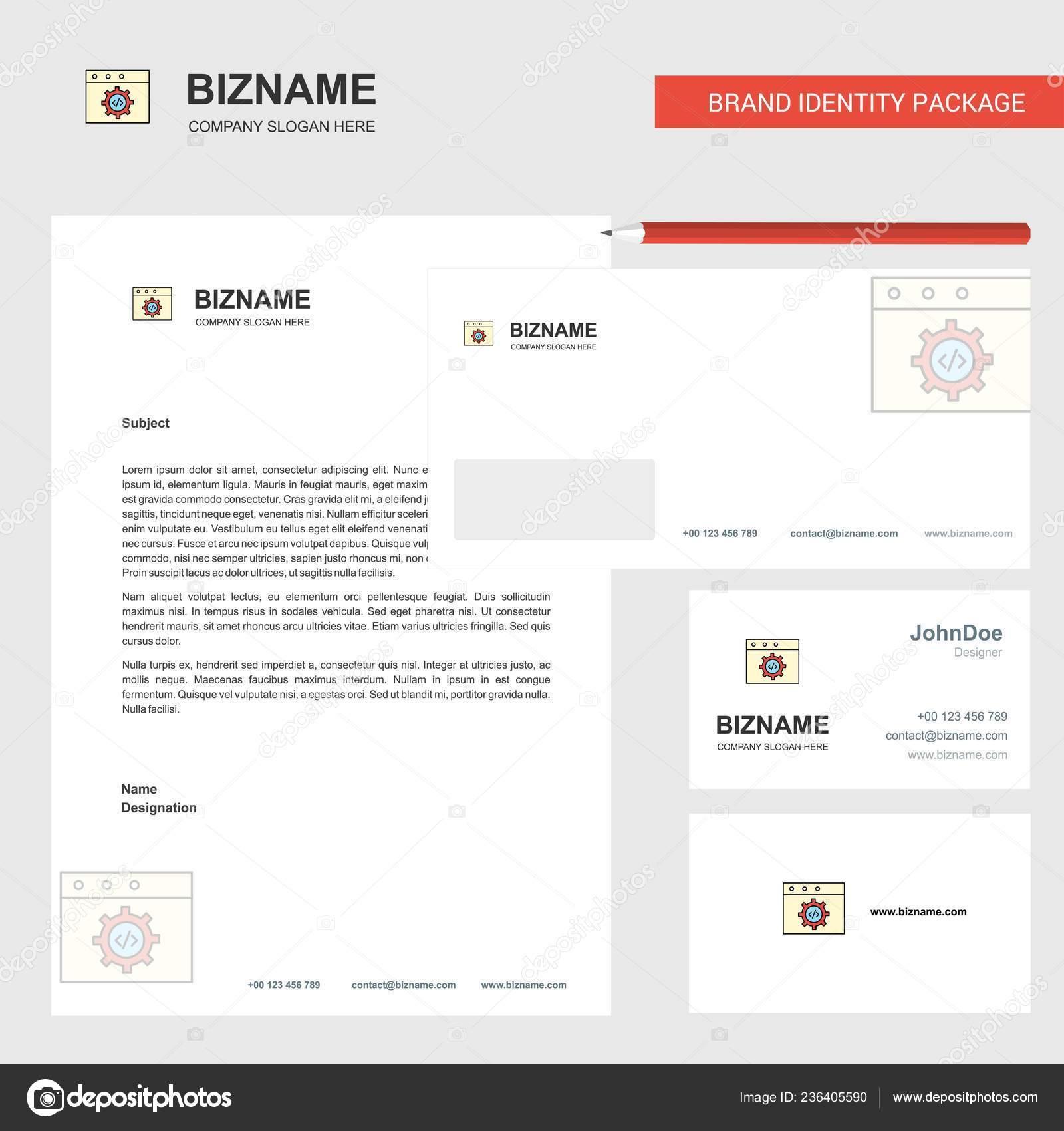 Website Programmierung Business Briefkopf Umschlag Und