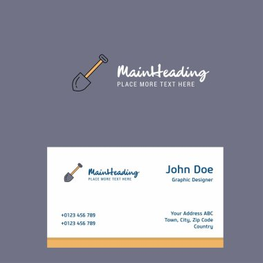Spade logo Design with business card template. Elegant corporate identity. - Vector