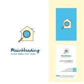 Search house  Creative Logo and business card. vertical Design Vector